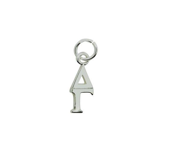 Delta Gamma Greek Sorority Lavalier Pendant Drop Charm Chain Necklace