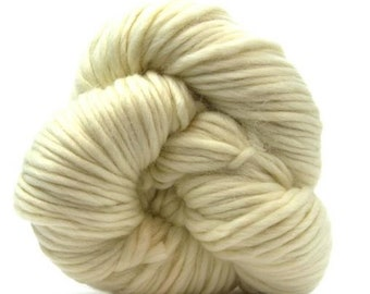 Super Bulky Merino Wool Yarn Mocha 200g//142yards Single Ply