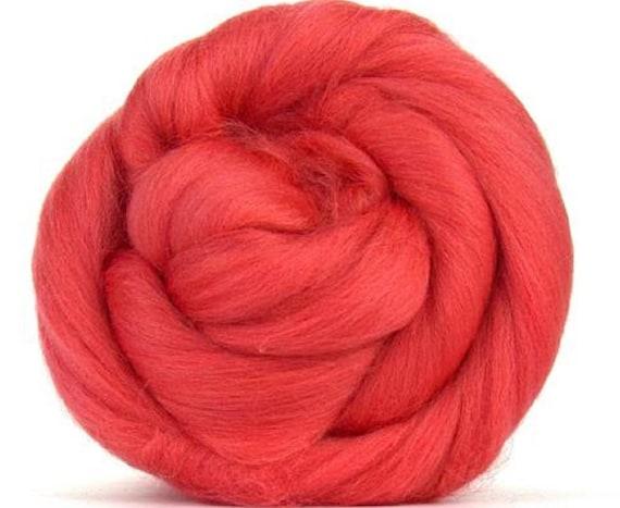 GoatsMagosh 4oz Merino Wool Merino Wool for Felting and Spinning Pink Cotton Candy
