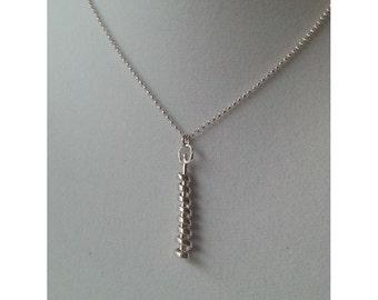 Sterling Silver Spiral Kinetic Pendant