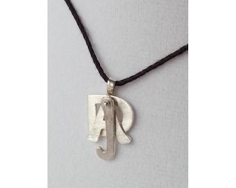 Custom Hand-Cut 925 Sterling Silver Dangling Initials