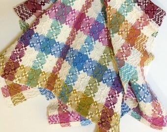 Plaid Color & Weave Huck Kitchen Tea Towel