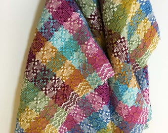 Color & Weave Huck Kitchen Tea Towel