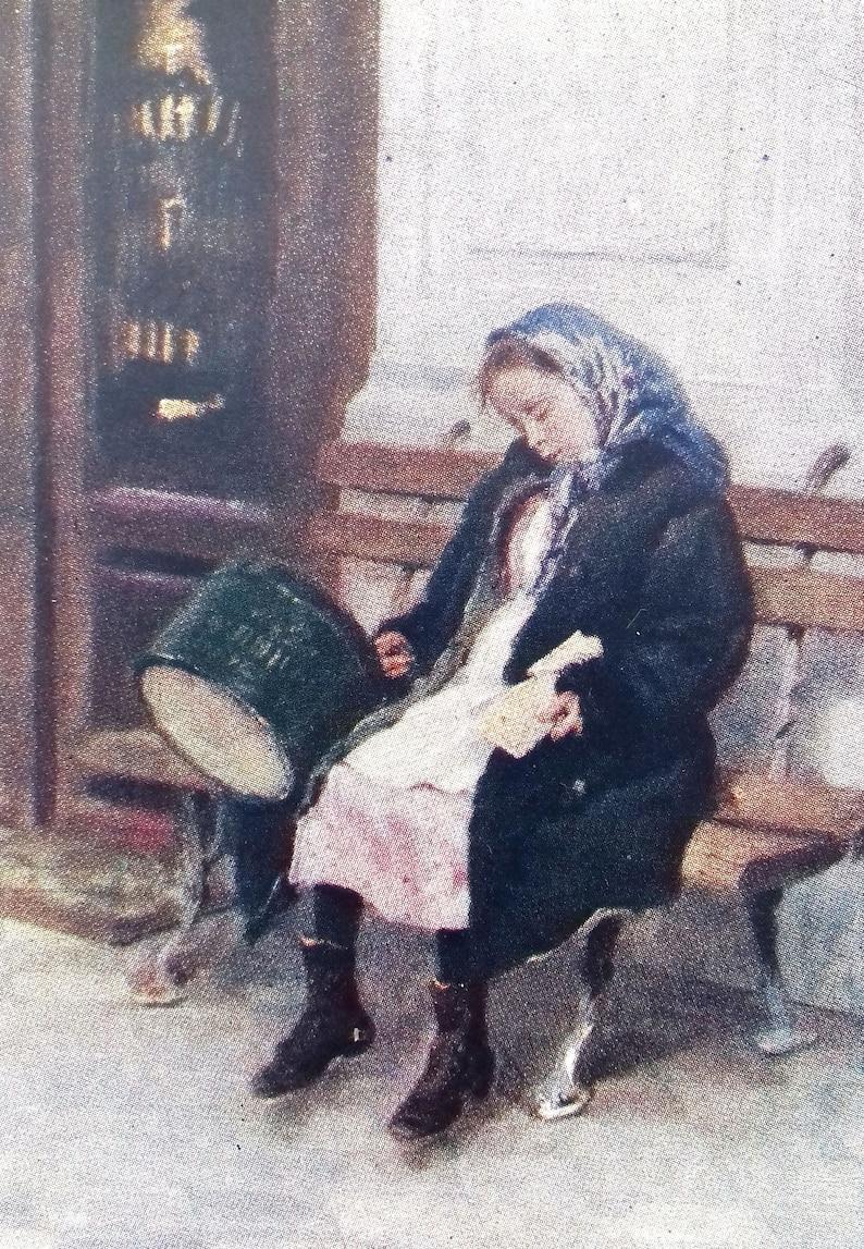 Soviet Postcard Makovsky Tired 1960 Artist K