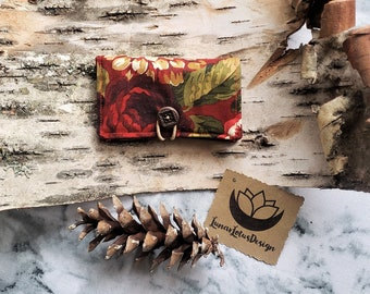 Floral Fabric Wallet - Business Card Holder, Gift Cards, ID Cards, Credit Cards, Bi-fold wallet, Women's Fabric Wallet, Purse Organization