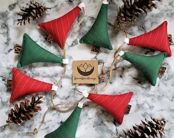 Christmas Tree Garland, Holiday Garland, Upcycled Christmas Decor, Holiday Mantle Decor, Tree Garland, Christmas Photo Prop