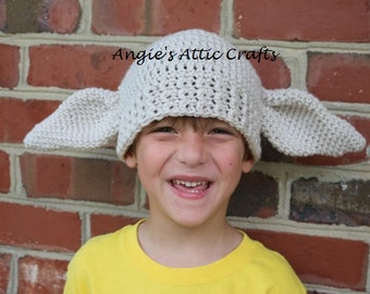 ANY SIZE Dobby House Elf Inspired Hat - Harry Potter - Halloween Costume - Photo Prop - Winter Hat - Baby/Toddler/Child/Adult Sizes  sc 1 st  Etsy & Harry potter toddler | Etsy
