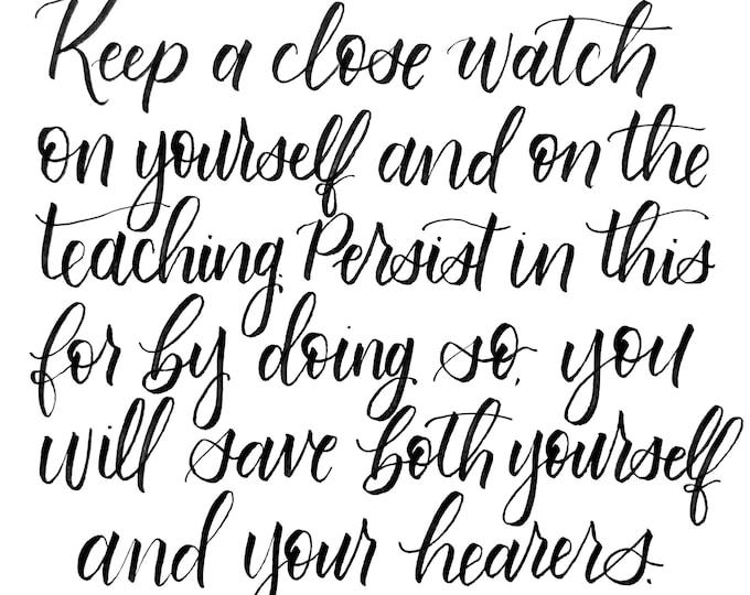 8x8 inch 1 Timothy 4:16