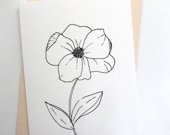 Set Of 5 Cards || Single Flower