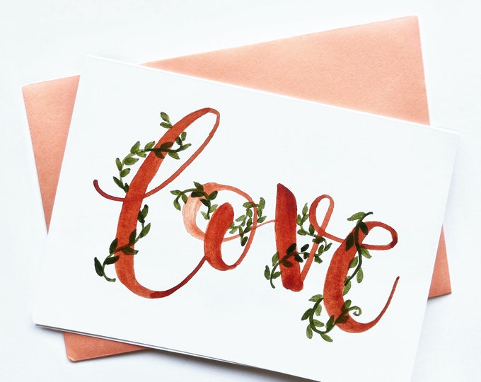 Love (with vines) card