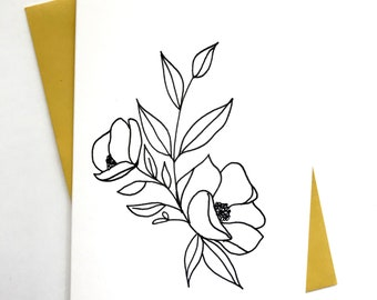 Set Of 5 Cards || Florals