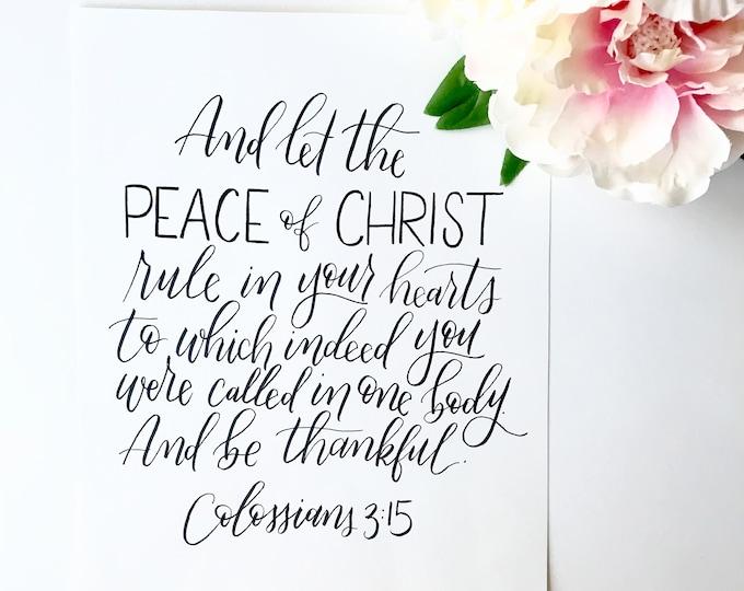 8x10 inch Colossians 3:15