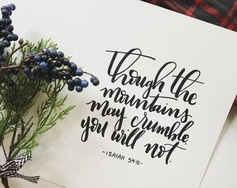 8x10 Isaiah 54:10 Print