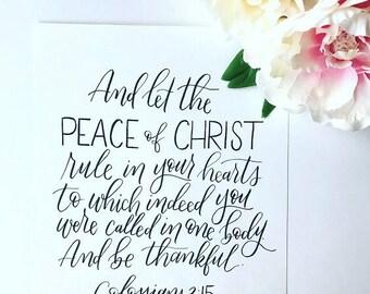 8x10 Colossians 3:15