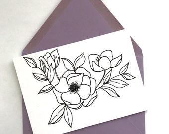 Set Of 5 Cards || Florals