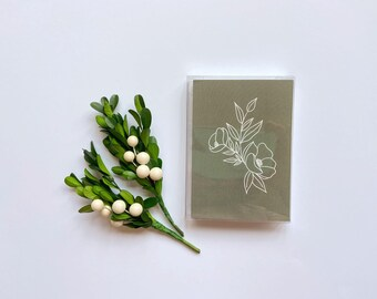 Set of 5 Cards || Two Flowers