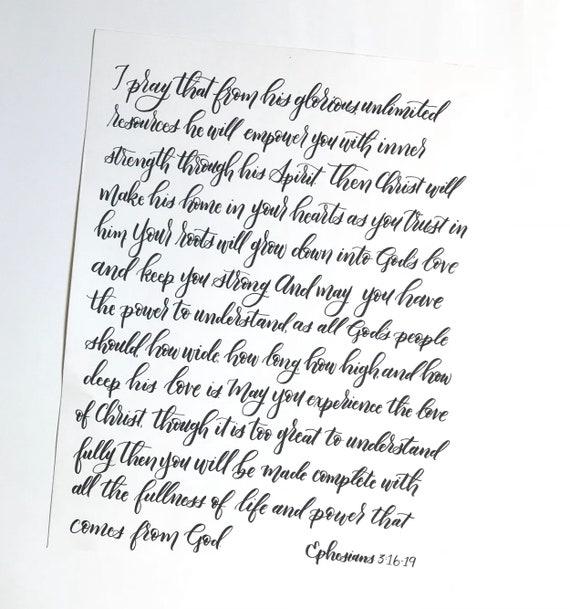 11x14 Ephesians 3:16-19