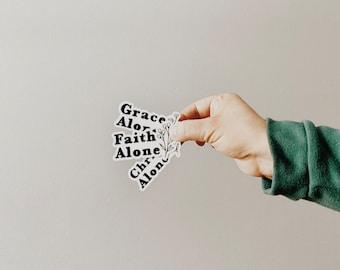 Faith Alone, Christ Alone, Grace Alone Sticker Bundle