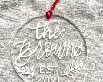 Personalized Couples Ornament
