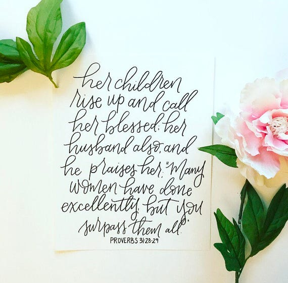 8x10 Proverbs 31:28-29