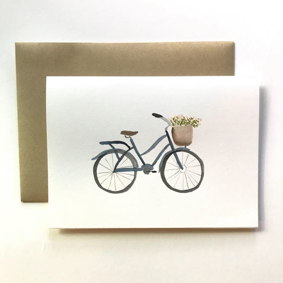 Bike card (blank inside)