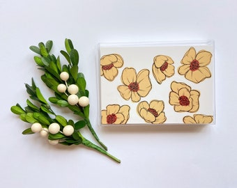 Set of 5 Cards || Yellow Flowers