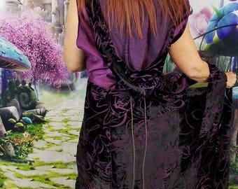 Purple Velvet WhmZ * Fairy Coat * Faerie * Hood * Plus Size * Magic * One of a Kind