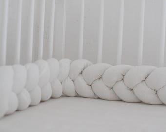 Crib Bedding, Baby bedding, Braided Crib Bumper, , Knot Pillow, Linen Pillow, Cradle Bumper, Cot bumper, Crib sheets, Nursery decor,