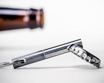 EDC Keychain Bottle Opener - Stainless Steel Bottle Opener Keychain - Valentine's Day Gift