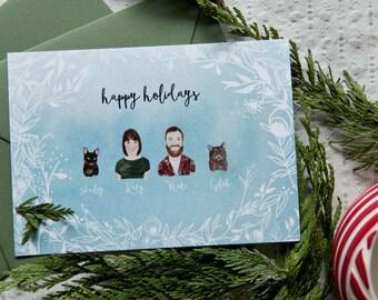 Family Heads Christmas Card