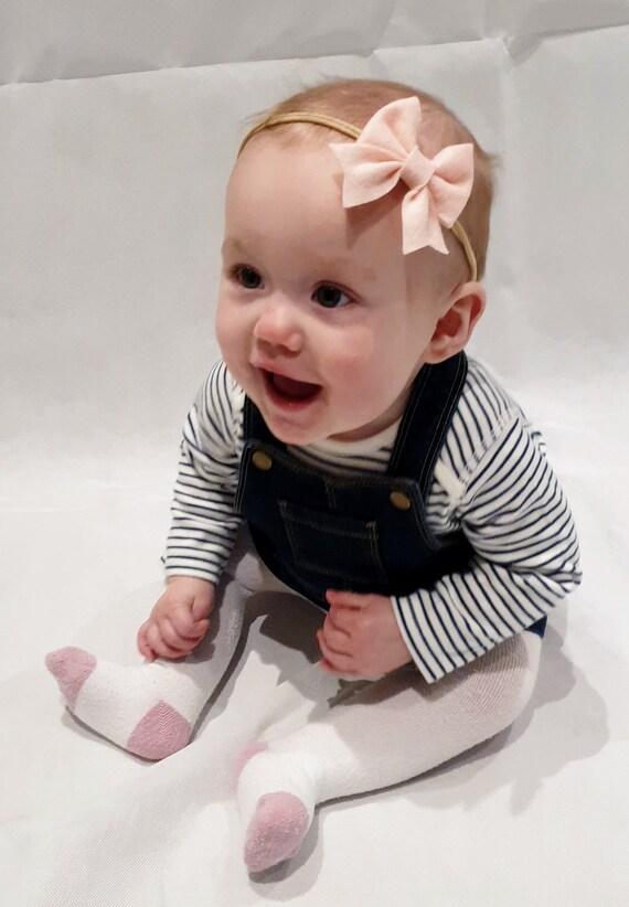 Baby small felt bow headband