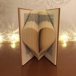 Beginners Book Folding Pattern for a Heart + FREE TUTORIAL