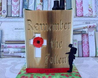 Remember the fallen cut and fold book folding pattern 599 pages