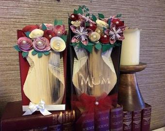 Vase book folding pattern ~ set of 2 ~ Mum vase and Slim vase + FREE tutorial