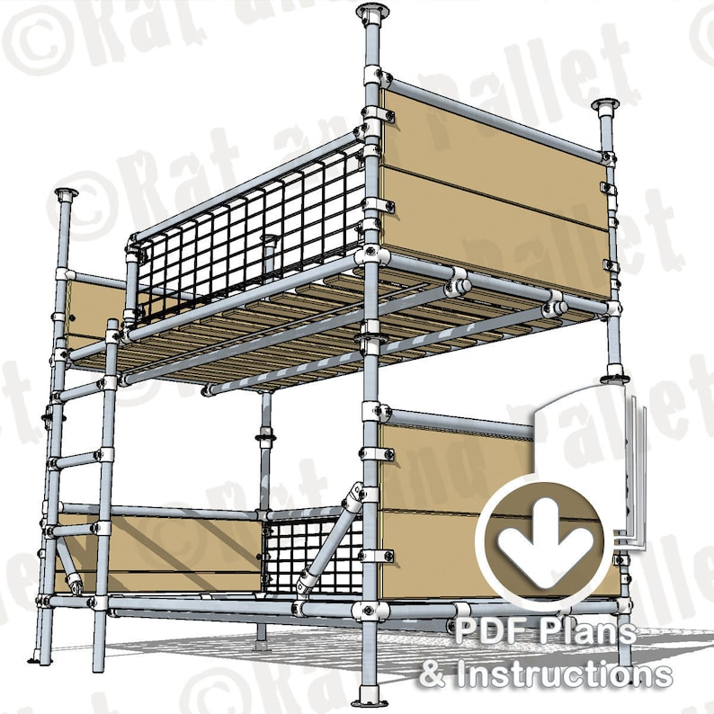 Make Scaffold Bunks from Instruction Plans. Modern Industrial image 0