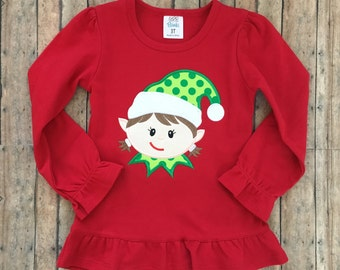 Elf Girl Applique Shirt