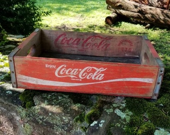 Coca Cola Key Rack Made From Vintage Coke Crate Home Decor Collectible Soda Pop