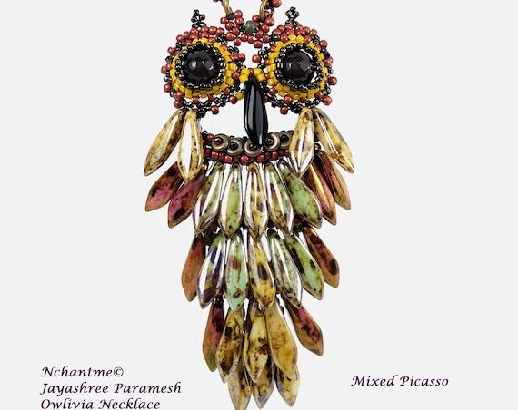 Owlivia Necklace Tutorial Instant Download