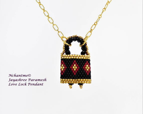 Love Lock Pendant Tutorial Instant Download