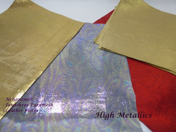 High Metallic Leather Pieces