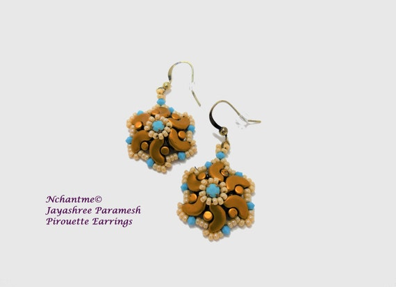 Pirouette Earrings Tutorial Instant Download