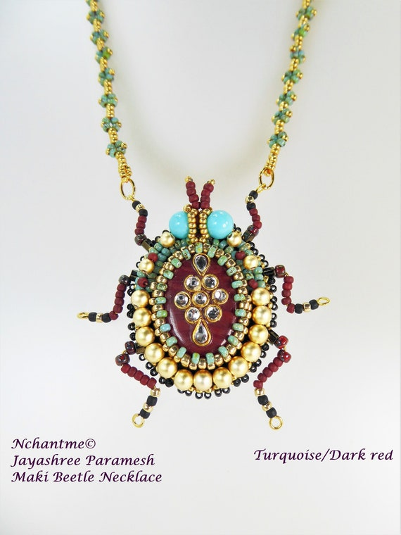 Maki Beetle Necklace Instant Download for Beadalong Group
