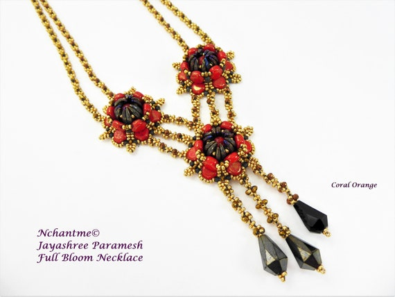 Full Bloom Necklace Tutorial Instant Download
