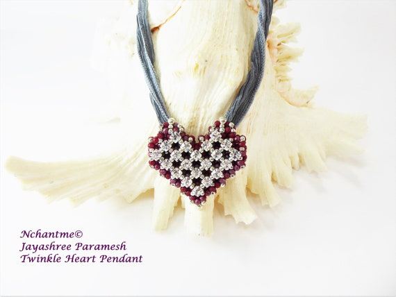 Twinkle Heart Pendant Tutorial Instant Download