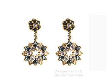 Stardust Earrings Tutorial Instant Download