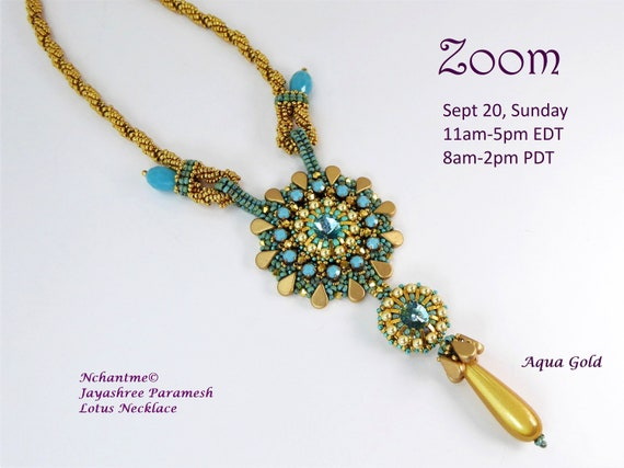 Lotus Necklace Zoom class and kit