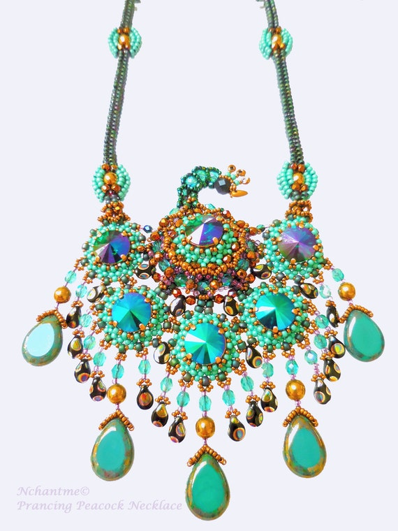 Prancing Peacock Necklace Tutorial Instant Download