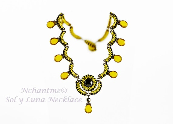 Sol y Luna Necklace Tutorial Instant Download
