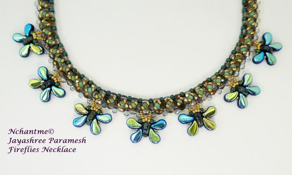 Fireflies Necklace Tutorial Instant Download