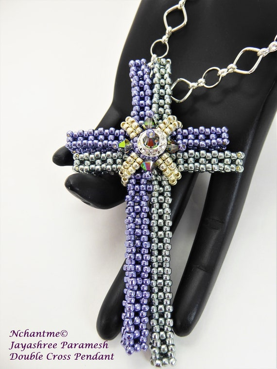 Double Cross Pendant Tutorial Instant Download